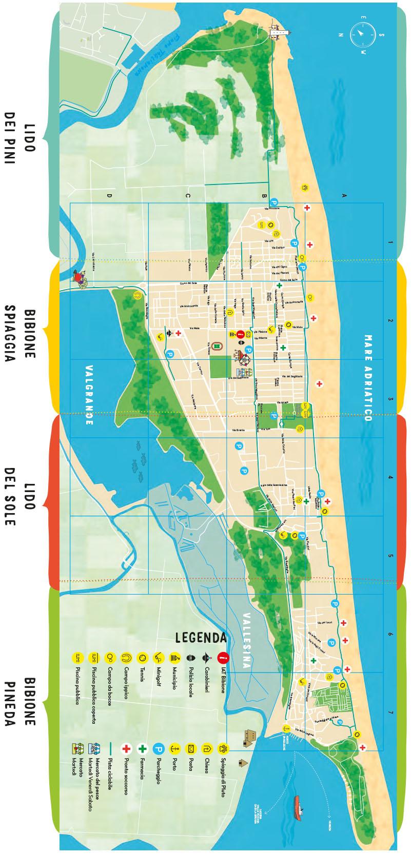 Karte Und Virtuelle Tour Durch Den Strand Von Bibione